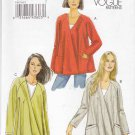 Vogue Sewing Pattern 8675 Misses Size 8-14 Easy Loose-Fitting Unlined Jacket