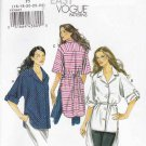 Vogue Sewing Pattern 8708 Misses Size 8-14 Easy Button Front Shirt Sleeve Length Options
