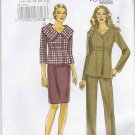 Vogue Sewing Pattern 8715 Misses Size 6-12 Easy Raised Waist Jacket Straight Skirt Pants