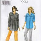 Vogue Sewing Pattern 8735 Misses Size 8-16 Easy Button Front Shirt Pants Capris