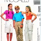 McCall's Sewing Pattern 3250 Boy's Girls' Size 7-10 Drawstring Cargo Pants Shorts