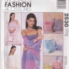 McCall's Sewing Pattern 2530 Misses Fashion Accessories Bags Sheer Stole Shawl
