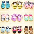 Simplicity Sewing Pattern 2491 Baby Shoes Sizes XS-L Embellished Ties Straps