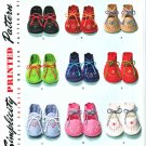 Simplicity Sewing Pattern 2867 Reproduction Vintage 1948 One Size Baby Booties Hand Embroidered