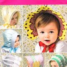 Simplicity Sewing Pattern 2908 Babies Toddlers' Hats Bonnets Embellished Appliques