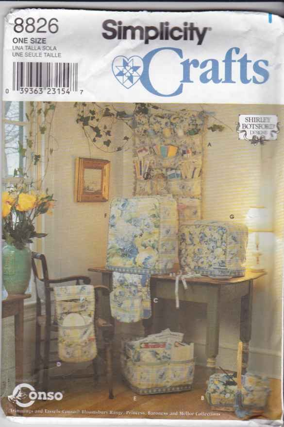 Book Cover Sewing Room ~ Simplicity sewing pattern room accessories