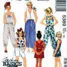 McCall's Sewing Pattern 5389 Girls' Size 14 Sleeveless Tops Suntops Pants Shorts