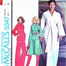 Retro McCall's Sewing Pattern 5347 Misses' Size 12 Pullover Dress Top Bell Bottom Pants