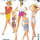 McCall's Sewing Pattern 3148 Misses' Size 8 Summer Button Front Shirt Tops Shorts