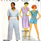 McCall's Sewing Pattern 3156 Misses' Size 16-20 Easy Button Front Dress Romper Jumpsuit