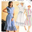 McCall's Sewing Pattern 3173 Misses' Size 6-10 Easy button Front Cropped Shirt Full Skirt