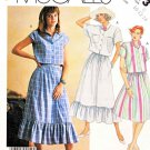 McCall's Sewing Pattern 3173 Misses' Size 10-14 Easy button Front Cropped Shirt Full Skirt