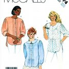 McCall's Sewing Pattern 3174 Misses' Size 10-12 Button Front Pintucked Shirts Optional Collar