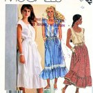McCall's Sewing Pattern 3182 Misses' Size 12 Summer Sundress Sleeveless Cap Sleeve Dress