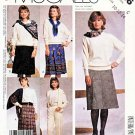 McCall's Sewing Pattern 3306 M3306 Misses Size 10-14 Easy Classic A-line Pleated Skirts Pants