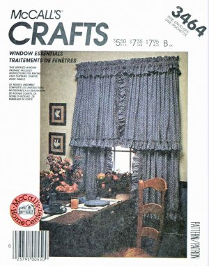 McCall�s Sewing Pattern 3464 885 Window Essentials Curtains Drapes Valances Panels