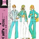 Retro McCalls Sewing Pattern 4096 Misses Size 12 Unlined Button Front Jacket Pants