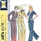 McCalls Sewing Pattern 4178 Misses Size 16 Unlined Peplum Jacket Pants Pantsuit