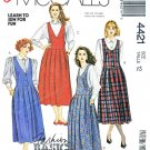 McCalls Sewing Pattern 4421 Misses Size 12 Easy Basic Pleated Skirt Jumpers