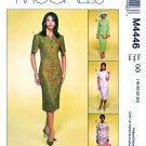 McCalls Sewing Pattern 4446 Misses Size 18-24 Lined Jacket Straight Dresses Skirt