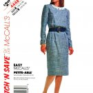 McCalls Sewing Pattern 4448 Misses Size 14-18 Easy Long Sleeve Straight Dress