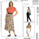 McCalls Sewing Pattern 4676 Misses Size 12-16 Easy Full Straight Skirts Tapered Pants