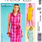 McCalls Sewing Pattern 4824 Misses Size 6-12 Classic button Front Dress Sleeve Options