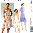 McCalls Sewing Pattern 4869 Misses Size 4-10 Cowl Neck Slip Dresses Back Bow
