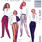 McCalls Sewing Pattern M4979 4979 Misses Size 8 Easy Tapered Stirrup Pants Leggings