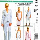 McCalls Sewing Pattern 5113 Misses Size 16-22 Classic Wardrobe Lined Jacket Top Dress Pants
