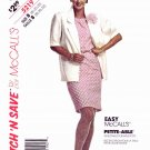 McCalls Sewing Pattern 5219 Misses Size 18-22 Unlined Short Slvve Jacket Straight Dress