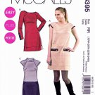McCalls Sewing Pattern 6395 Woman's Plus Size 18W-24W Short Long Sleeve Knit Dress