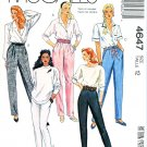 McCalls Sewing Pattern M4647 4647 Misses Size 16 Tapered Pants Knit Leggings Waist Options