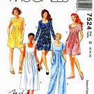 McCalls Sewing Pattern 7524 Misses Size 8-12 Easy Basic Dress Jumpsuit Romper Sleeve Options