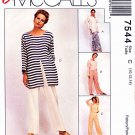 McCalls Sewing Pattern 7544 M7544 Misses Size 22-26 Easy Sew News Wardrobe Tunic Top Pants