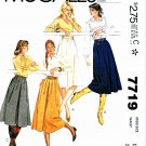 McCalls Sewing Pattern 7719 Misses Size 16 Flared Gathered Skirts Two Lengths