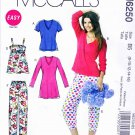 McCalls Sewing Pattern 6250 Misses Size 8-16 Easy Tops Nightgown Nightshirt Pajama Pants