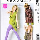 McCalls Sewing Pattern 6607 M6607 Womens Plus Size 18W-24W Cowl Necks Top Tunics Nancy Zieman