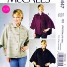 McCalls Sewing Pattern 6447 Misses Size 8-16 Button Snap Front Cape Nancy Zieman