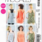 McCalls Sewing Pattern 6359 Misses Size 6-14 Easy Loose-Fitting Pullover Tunics