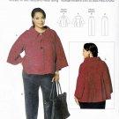 Butterick Sewing Pattern 5690 Women's Plus Size 18W-44W Easy Button Front Swing Jacket Pants