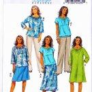 Butterick Sewing Pattern 5722 Women's Plus Size 18W-24W Wardrobe Dress Top Pants Skirt
