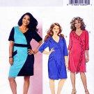Butterick Sewing Pattern 5825 Womens Plus Size 26W-32W Easy Knit Knit Color Blocked Dress