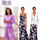 Butterick Sewing Pattern 3758 Misses Size 14-16-18 Easy Button Front Jacket Long Sleeveless Dress