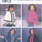Simplicity Sewing Pattern 5230 Girls Size 3-16 XS-L Fleece Hooded Cape Poncho