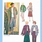 Retro Simplicity Sewing Pattern 9142 Misses Size 18  Jacket Pants Pleated Skirt Suit Pantsuit