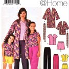 Simplicity Sewing Pattern 5324 Misses Girls Size 3-8/XS-XL Pants Top Jacket Shorts Robe