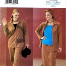 Butterick Sewing Pattern 6720 Womens Plus Size 22W-26W Easy Zipper Front Jacket Skirt Pants