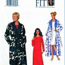 Butterick Sewing Pattern 3338 Women's Plus Sizes 24W-32W Easy Front Wrap Robe Knit Nightgown
