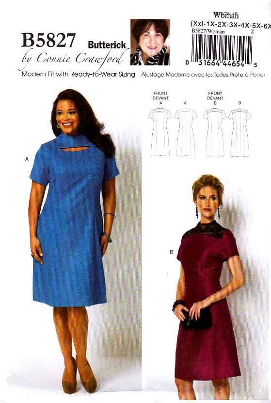 Butterick plus size dress patterns